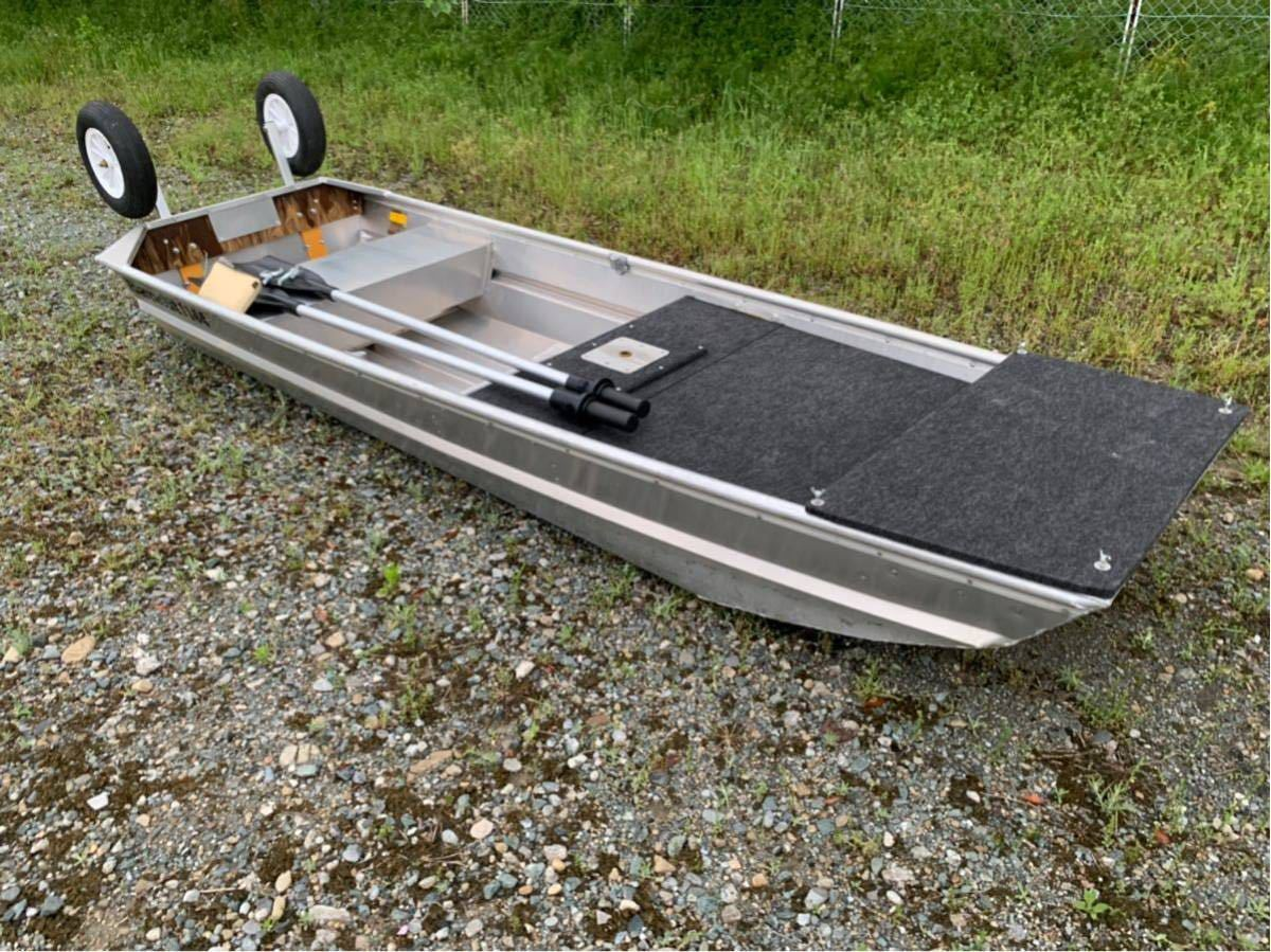 美艇 ポパイ バンディット 1144U デッキセットPOPEYE 免許不要艇 ジョンボート サウザー JW11 ステーサー アルミボート ドーリー付 Bandit