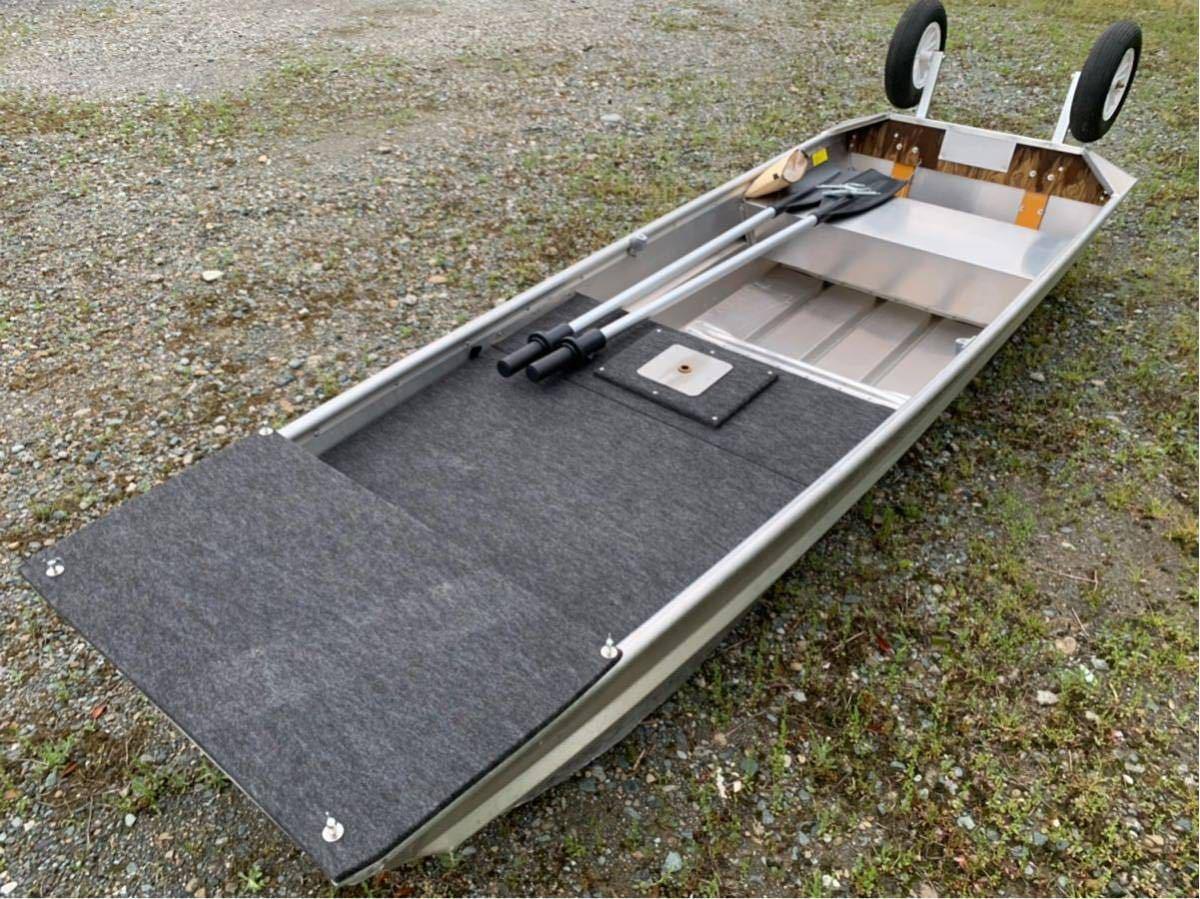 美艇 ポパイ バンディット 1144U デッキセットPOPEYE 免許不要艇 ジョンボート サウザー JW11 ステーサー アルミボート ドーリー付 Bandit_画像3