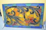 keikyusugita355 - 54 E 中古品 大竹ステンドグラス 窓枠 約101cm×64.5cm