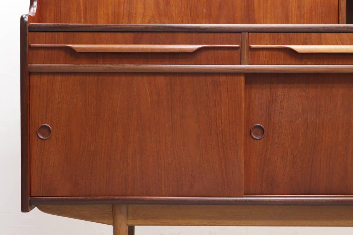 ◆英国 イギリス チーク材 サイドボード 収納 キャビネット チェスト/北欧シェルフ食器棚本棚飾り棚レトロアンティーク/IDT30118◆_画像2