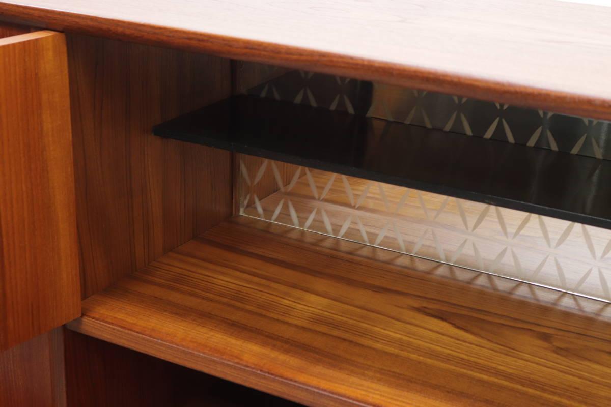◆英国 イギリス チーク材 サイドボード 収納 キャビネット チェスト/北欧シェルフ食器棚本棚飾り棚レトロアンティーク/IDT30118◆_画像3