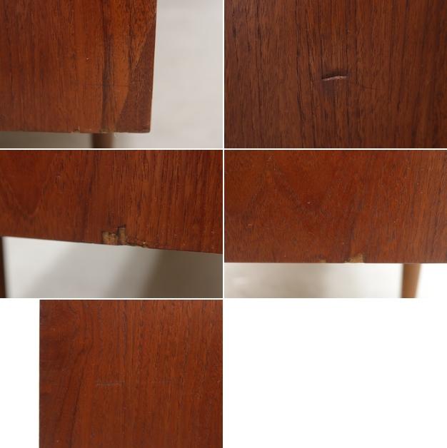 ◆英国 イギリス チーク材 サイドボード 収納 キャビネット チェスト/北欧シェルフ食器棚本棚飾り棚レトロアンティーク/IDT30118◆_画像10
