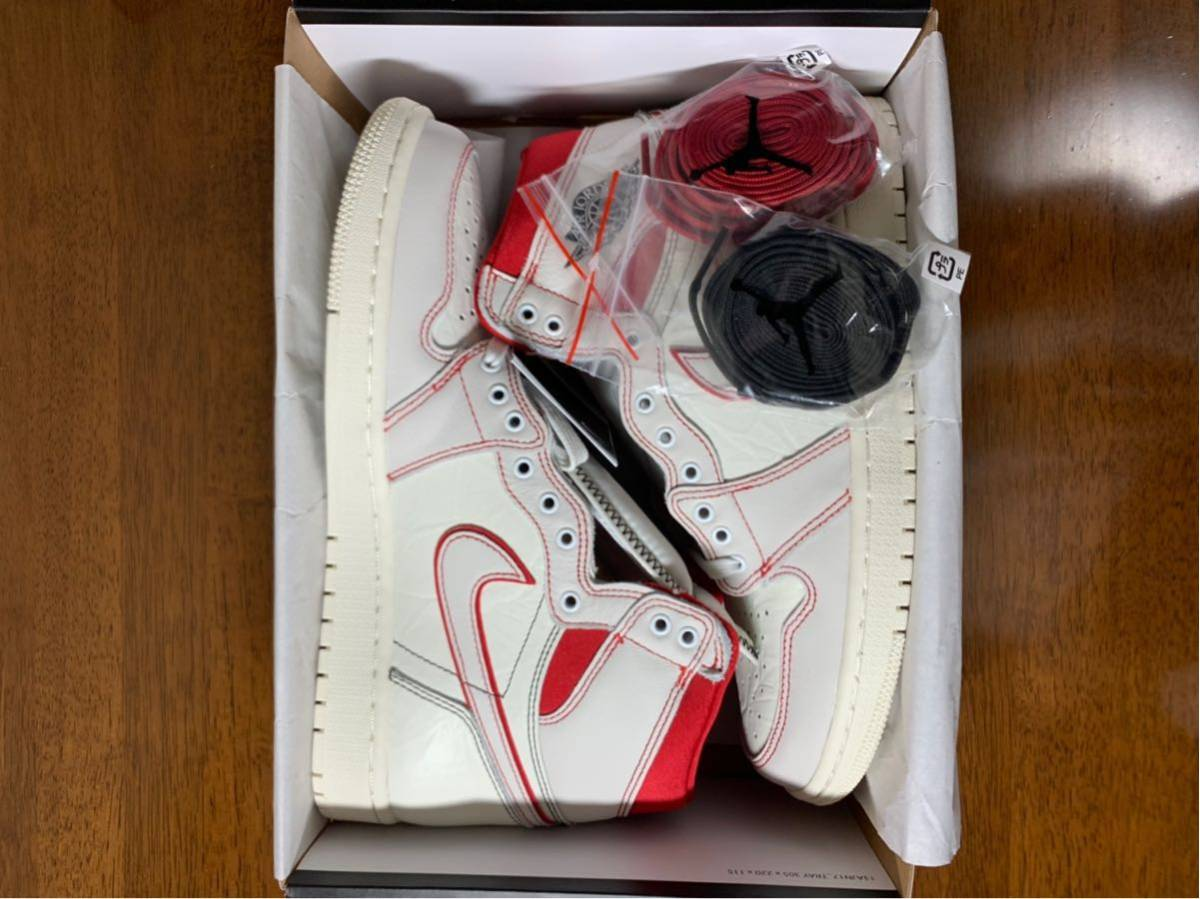 27.5cm AIR JORDAN RETRO HIGH OG PHANTOM SAIL / UNIVERSITY RED エアジョーダン 1 ファントム AJ1 US9.5_画像2