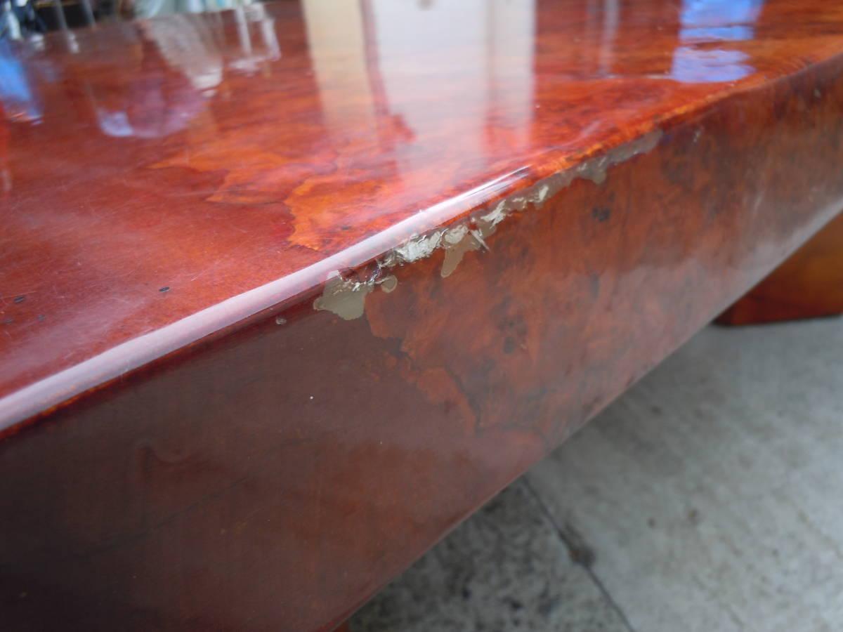 中古 最高級座卓 天然無垢一枚板 花梨 杢目有り ちゃぶ台 テーブル 【W152 x D90 x H33】 75kg_画像6