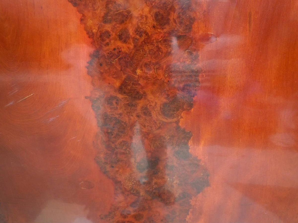 中古 最高級座卓 天然無垢一枚板 花梨 杢目有り ちゃぶ台 テーブル 【W152 x D90 x H33】 75kg_画像10