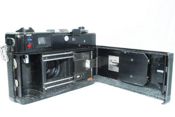動作品★人気のcanonカメラ★キャノン Canonet QL17 G-III 40mm F1.7 Black 黒 レンジファインダー_画像8