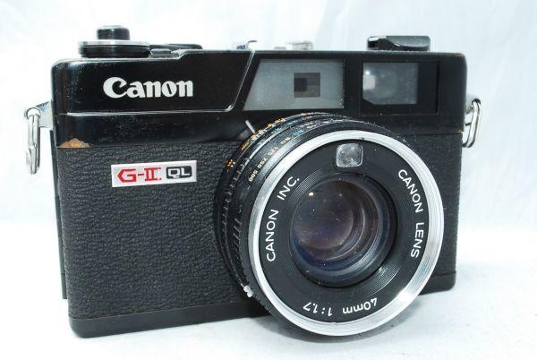 動作品★人気のcanonカメラ★キャノン Canonet QL17 G-III 40mm F1.7 Black 黒 レンジファインダー_画像2