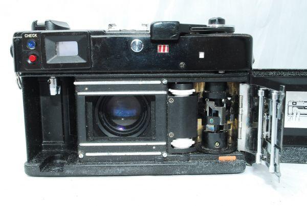 動作品★人気のcanonカメラ★キャノン Canonet QL17 G-III 40mm F1.7 Black 黒 レンジファインダー_画像7