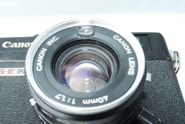 動作品★人気のcanonカメラ★キャノン Canonet QL17 G-III 40mm F1.7 Black 黒 レンジファインダー_画像3
