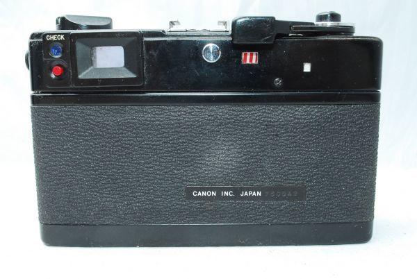 動作品★人気のcanonカメラ★キャノン Canonet QL17 G-III 40mm F1.7 Black 黒 レンジファインダー_画像6
