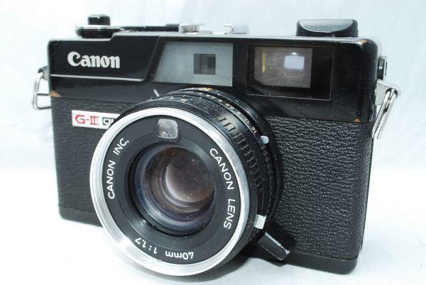 動作品★人気のcanonカメラ★キャノン Canonet QL17 G-III 40mm F1.7 Black 黒 レンジファインダー