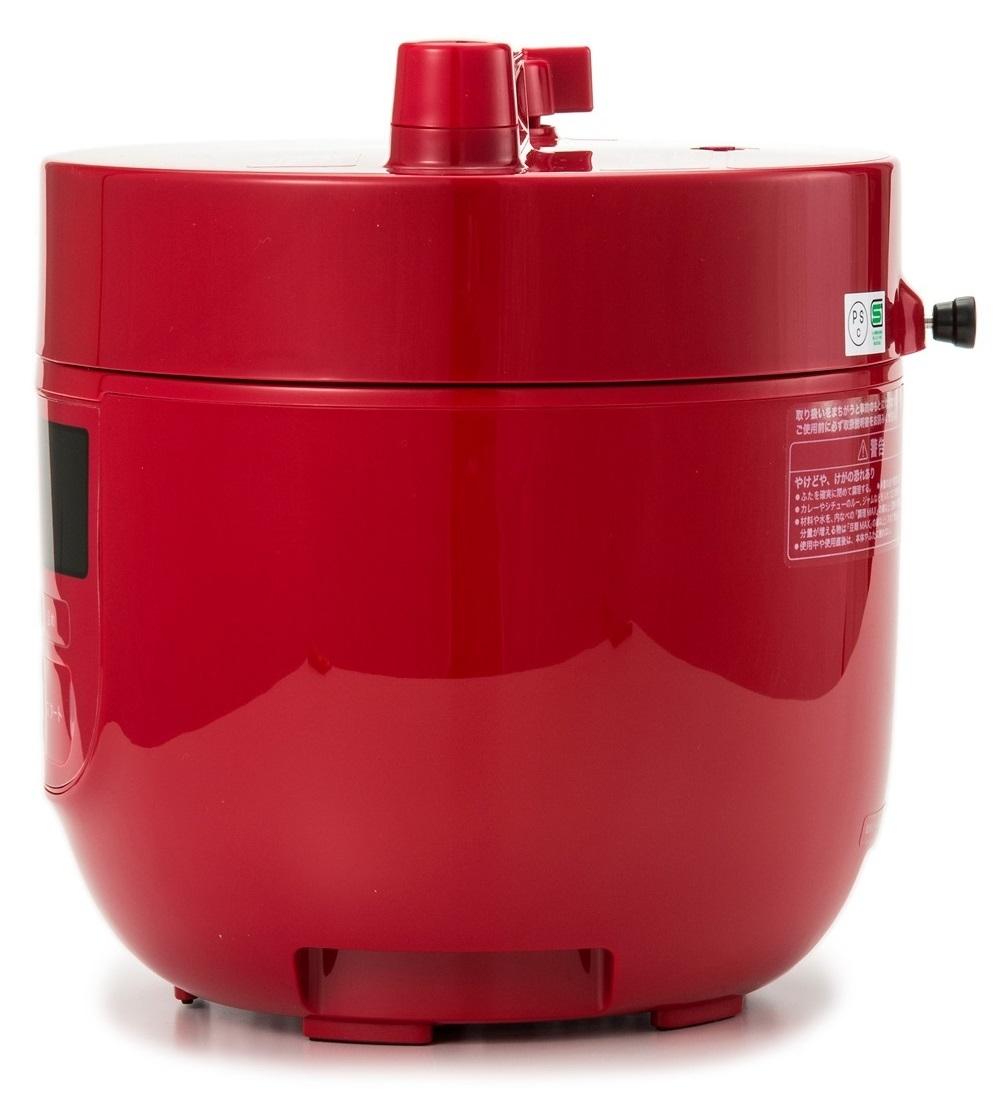 siroca コンパクト電気圧力鍋 スロー調理機能付 qvc 新品未使用 16cm用 強化ガラス蓋 おまけつき SP-D131 レッド 圧力 無水 蒸し 炊飯_画像2