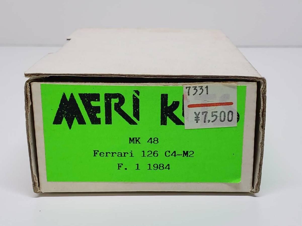 MK48 Ferrari フェラーリ 126C4-M2 1984 MERI メリ 1/43◆PH65A