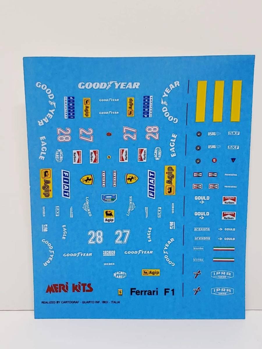 MK48 Ferrari フェラーリ 126C4-M2 1984 MERI メリ 1/43◆PH65A_画像3