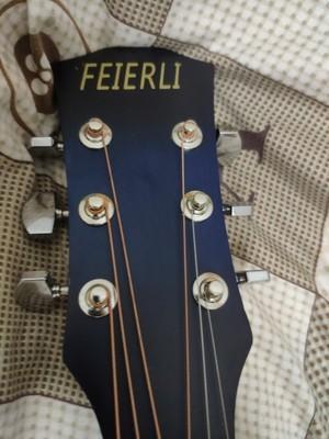 38寸インチの黒青の木ギター_画像5