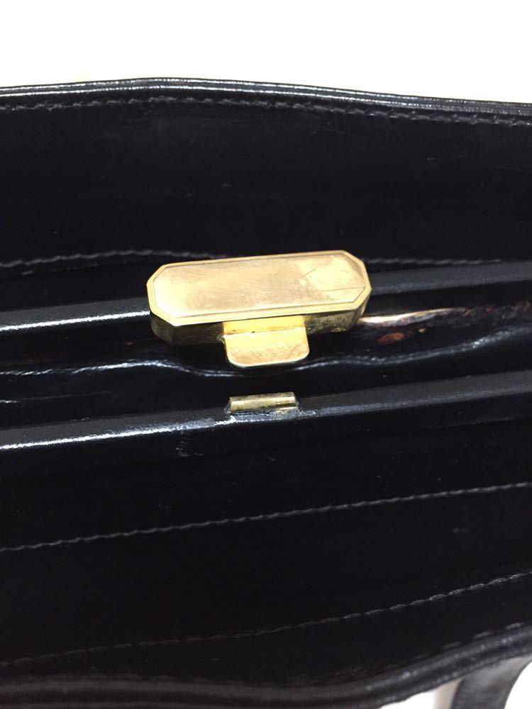 トラサルディ ショルダートートバッグ バッグ 鞄 レザー ブラック アンティーク ヴィンテージ _画像9