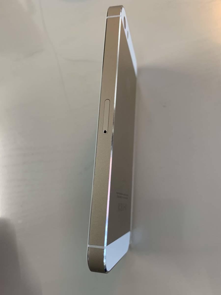 【1円スタート】 Apple iPhone5s 32GB docomo ゴールド【バッテリー新品】_画像3