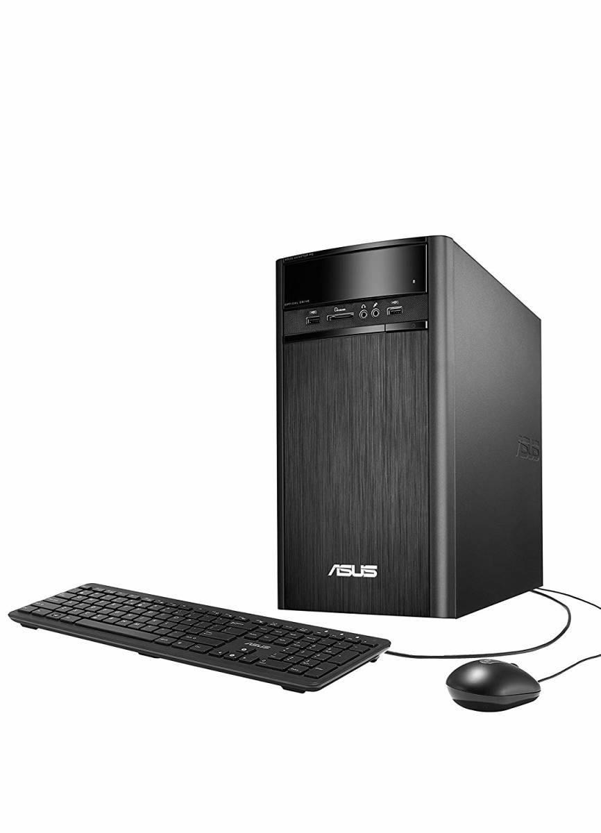 新品 ASUS デスクトップ K31AN (WIN8.1 64Bit / Intel J2900 / 4GB / 500GB / DVD-ROM ドライブ / ブラック) K31AN-J2900