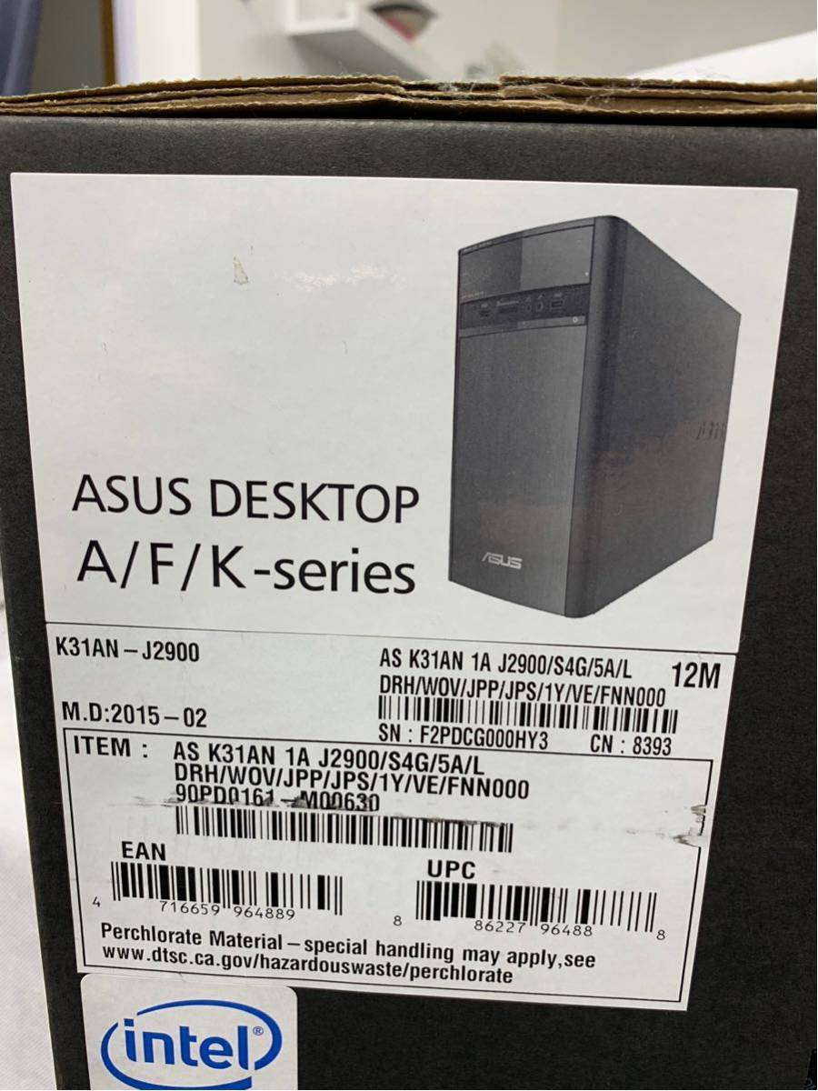 新品 ASUS デスクトップ K31AN (WIN8.1 64Bit / Intel J2900 / 4GB / 500GB / DVD-ROM ドライブ / ブラック) K31AN-J2900_画像8