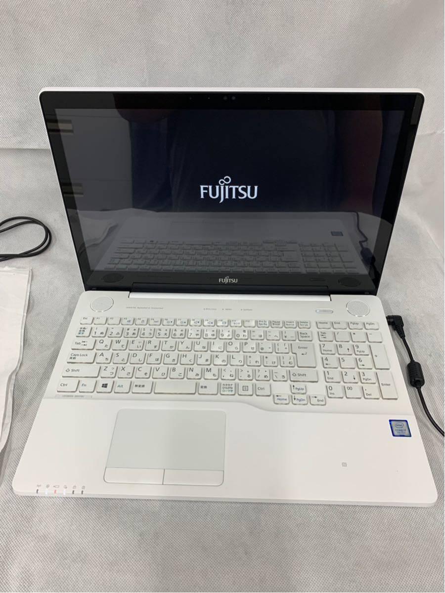 【展示品】富士通(FUJITSU) FMV LIFEBOOK FMVA77B1W Core i7 7700HQ/HDD:1TB/8GB/Bluetooth/ブルーレ/15.6 インチ/Windows 10①_画像2