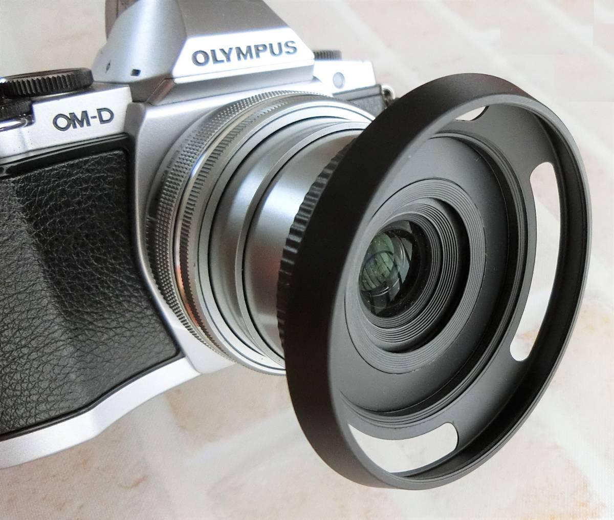 【新品/送料185円】OLYMPAS 黒 フード付き 自動開閉式レンズキャップ LC-37C-20 オリンパス E-M10 E-M5 E-M1 レンズ キャップ ブラック JJC_画像3