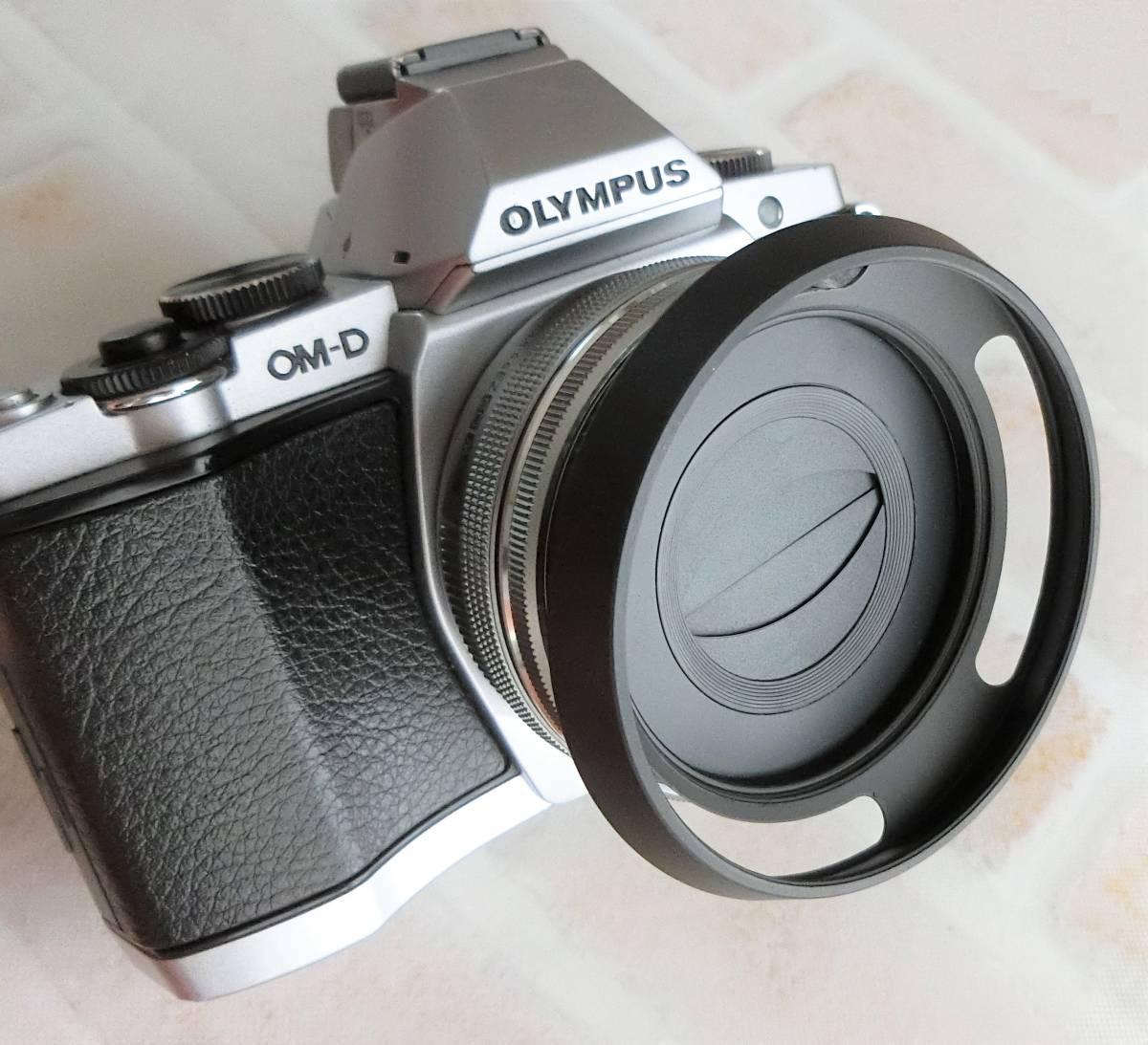 【新品/送料185円】OLYMPAS 黒 フード付き 自動開閉式レンズキャップ LC-37C-20 オリンパス E-M10 E-M5 E-M1 レンズ キャップ ブラック JJC_画像2