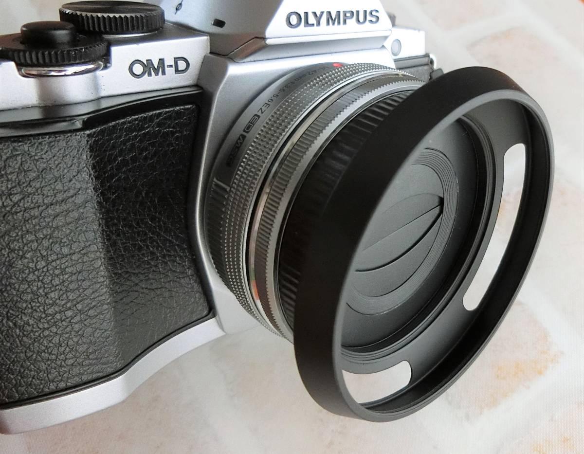 【新品/送料185円】OLYMPAS 黒 フード付き 自動開閉式レンズキャップ LC-37C-20 オリンパス E-M10 E-M5 E-M1 レンズ キャップ ブラック JJC_画像6