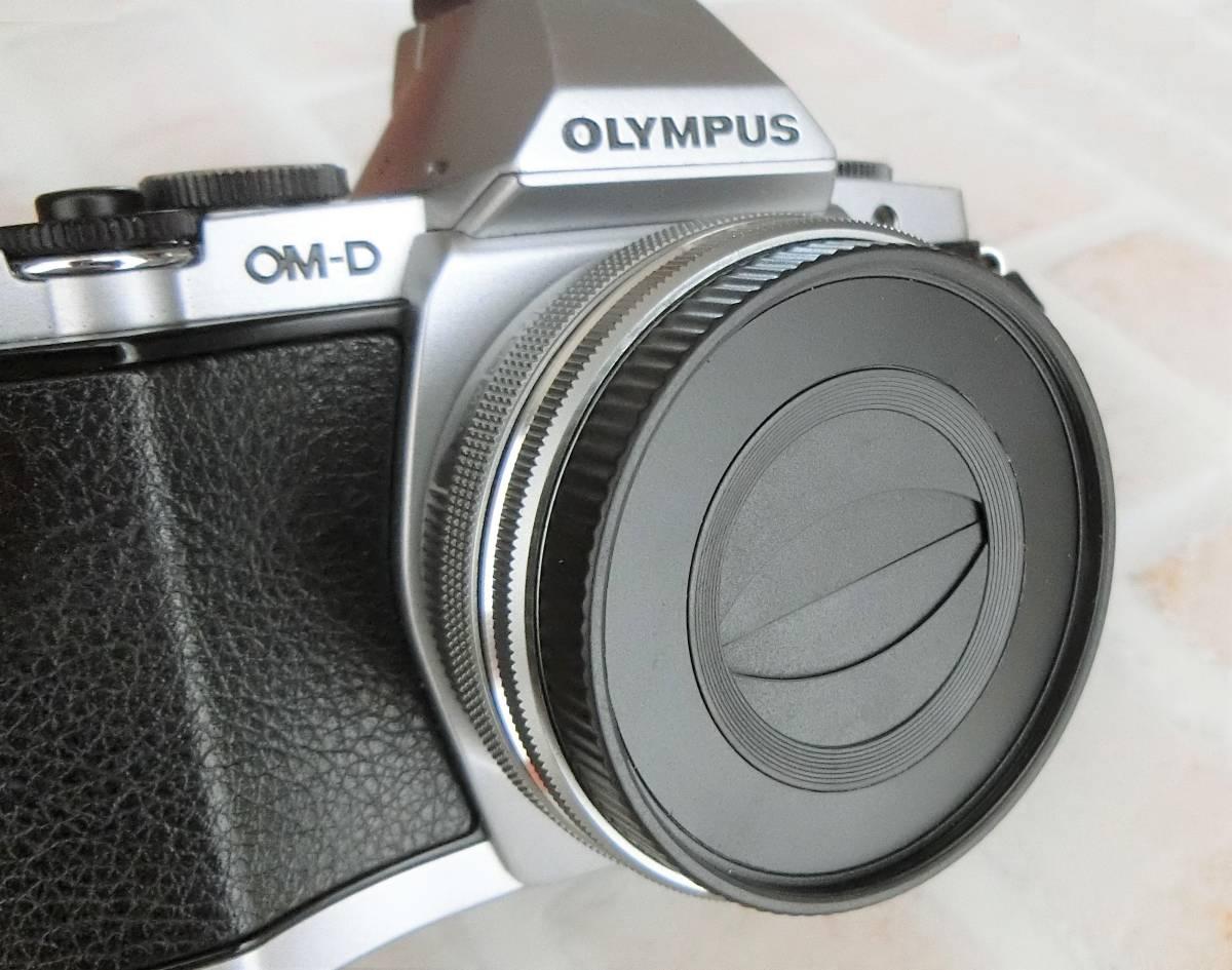 【新品/送料185円】OLYMPAS 黒 フード付き 自動開閉式レンズキャップ LC-37C-20 オリンパス E-M10 E-M5 E-M1 レンズ キャップ ブラック JJC_画像7