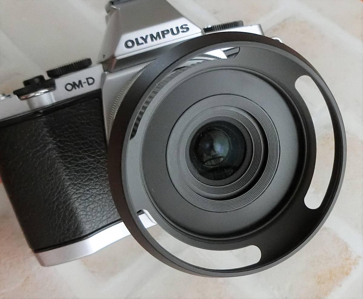 【新品/送料185円】OLYMPAS 黒 フード付き 自動開閉式レンズキャップ LC-37C-20 オリンパス E-M10 E-M5 E-M1 レンズ キャップ ブラック JJC_画像4