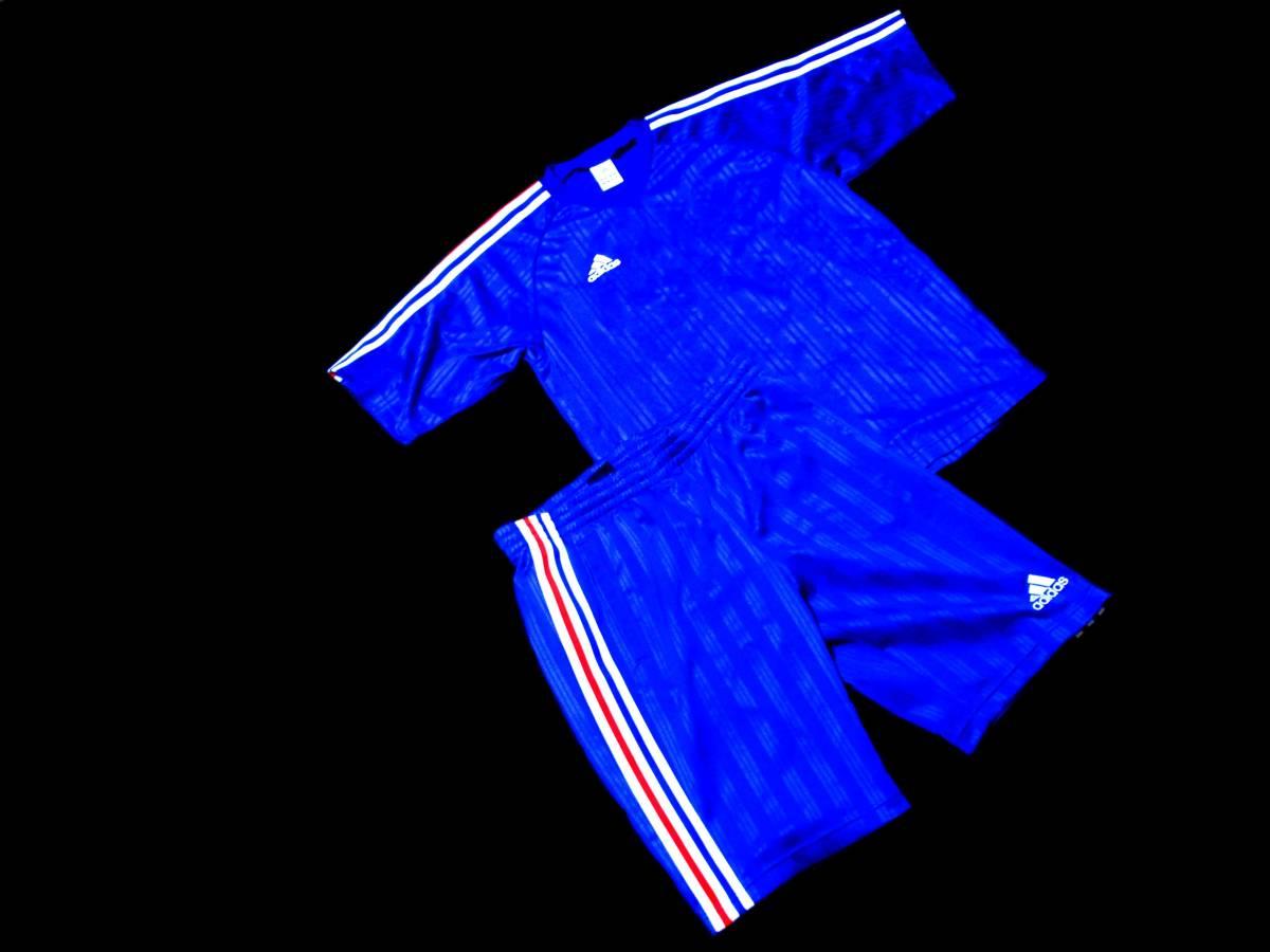 アディダス SHADOW プラシャツ上下セット サイズL トリコロール 定番 nike fc puma adidas nftb fcrb_画像1