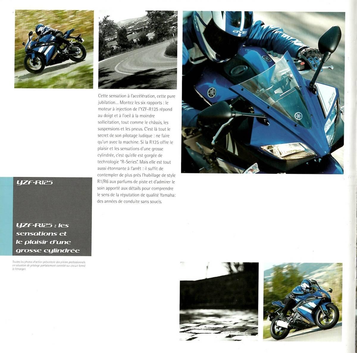 欧州版 ヤマハ 2008年 YZF-R125 カタログ。単品カタログはめったに出ないです。_画像10
