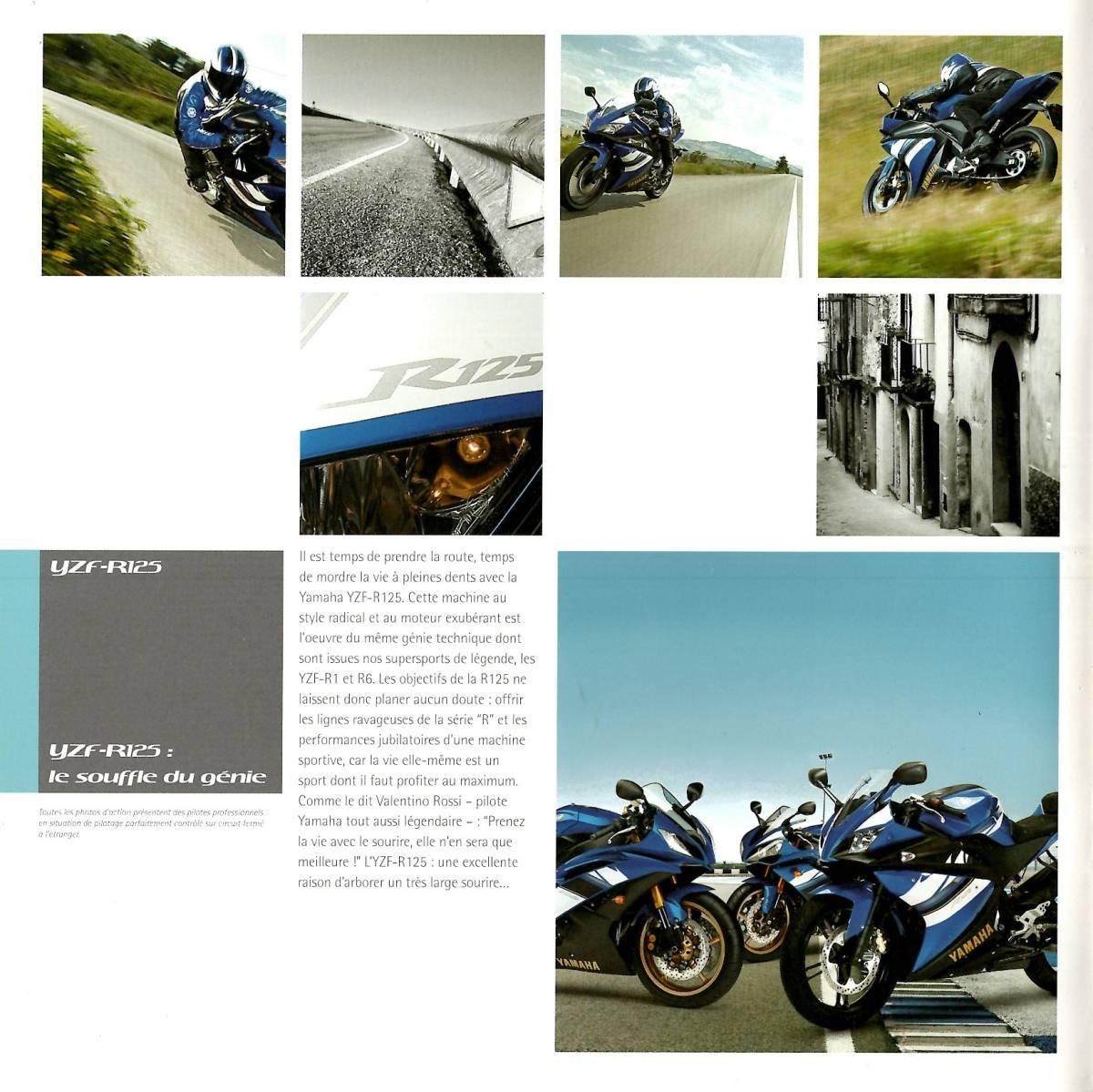 欧州版 ヤマハ 2008年 YZF-R125 カタログ。単品カタログはめったに出ないです。_画像8