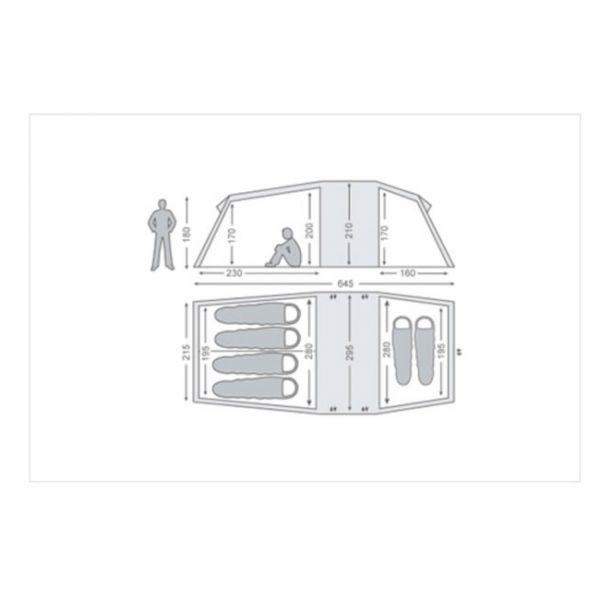 1円~ ノルディスク NORDISK Reisa 6 レイサ ツールーム型 ベージュ//6人用 キャンプ テント アウトドア_画像2
