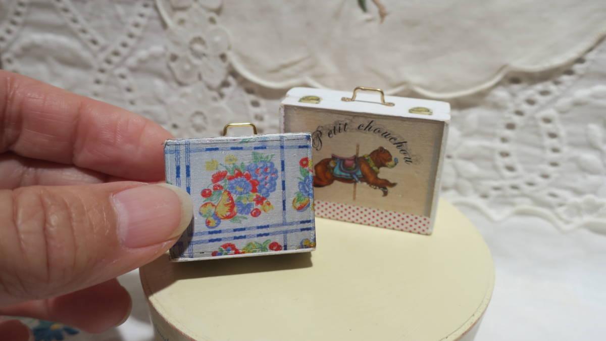 *handmade・ミニチュア*teddy bear&vintage toy set*ロッキングホース&テリア_画像7