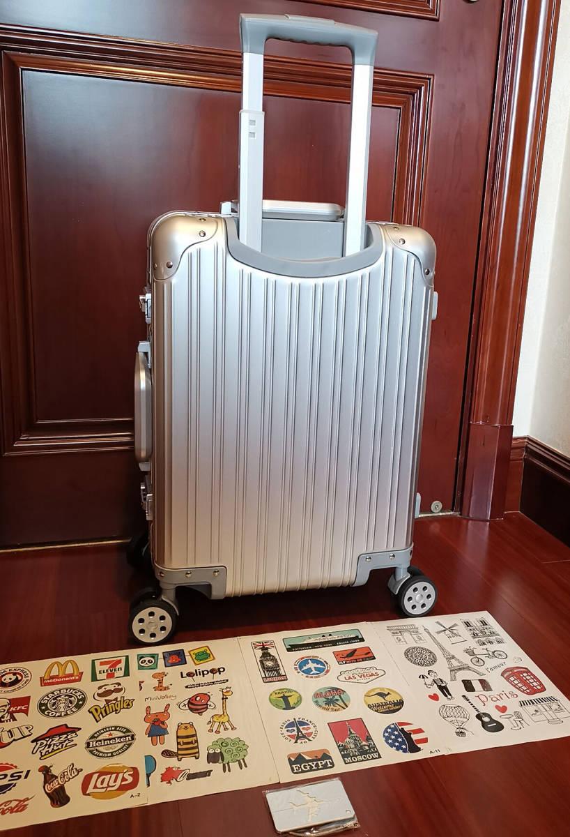 高品質※EU基準※純正アルミマグネシウム合金製・軽量/静音・TSAロック搭載スーツケース・キャリーケース※限定ステッカー付5枚付_画像8