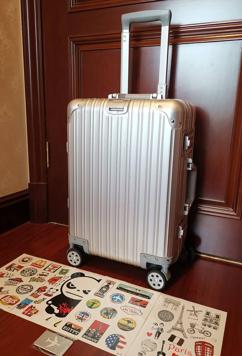 高品質※EU基準※純正アルミマグネシウム合金製・軽量/静音・TSAロック搭載スーツケース・キャリーケース※限定ステッカー付5枚付_画像3