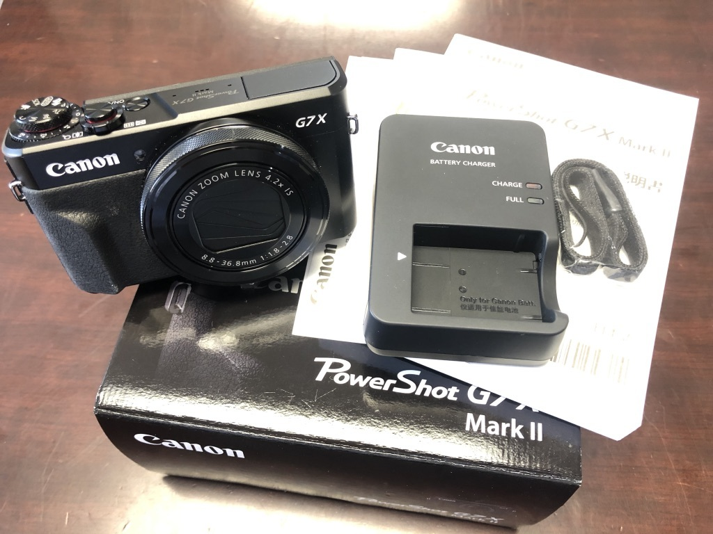 ★美品★Canon キャノン PowerShot G7X MarkⅡ パワーショット 付属品完品・保証書