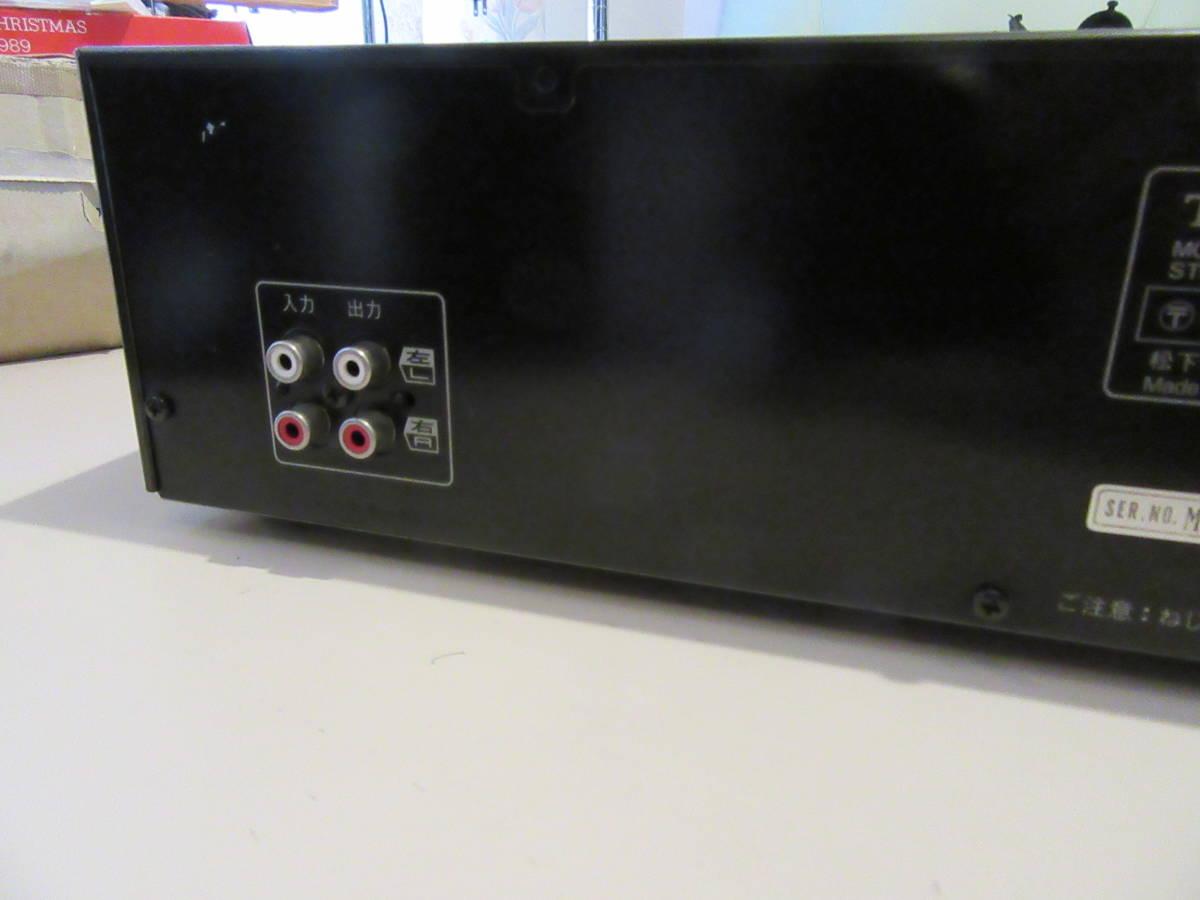 Technics SH-E70A 7バンド ステレオグラフィックイコライザー スペアナ表示 中古品 内部清掃 接点洗浄 メンテナンス施行済み 動作品_画像8