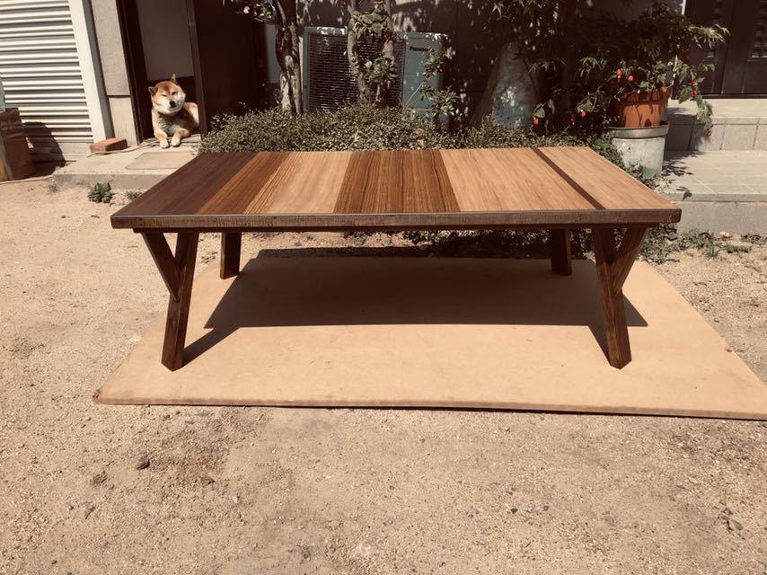 おしゃれこたつテーブル120日本製・ヒーター別売り_画像1