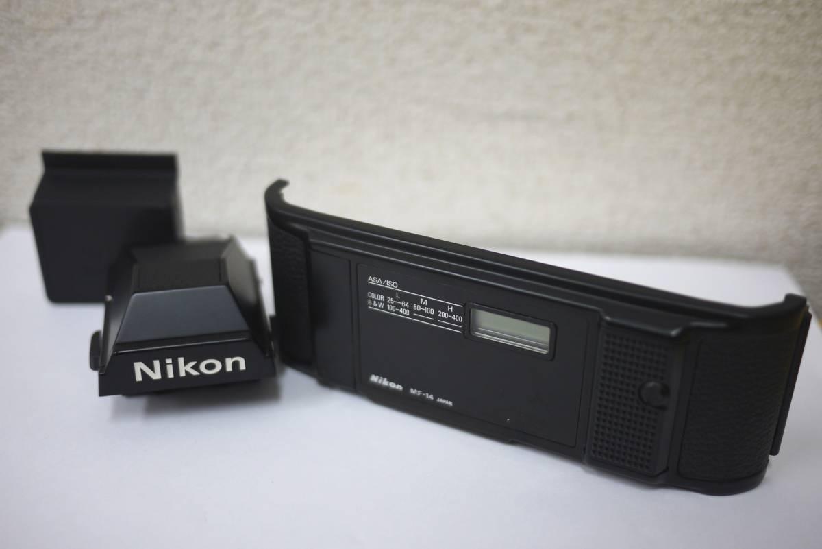 11*ジャンク Nikon ニコン アイレベルファインダー DE-2 裏蓋 MF-14 F3 カメラ レンズ アクセサリー 裏ブタ