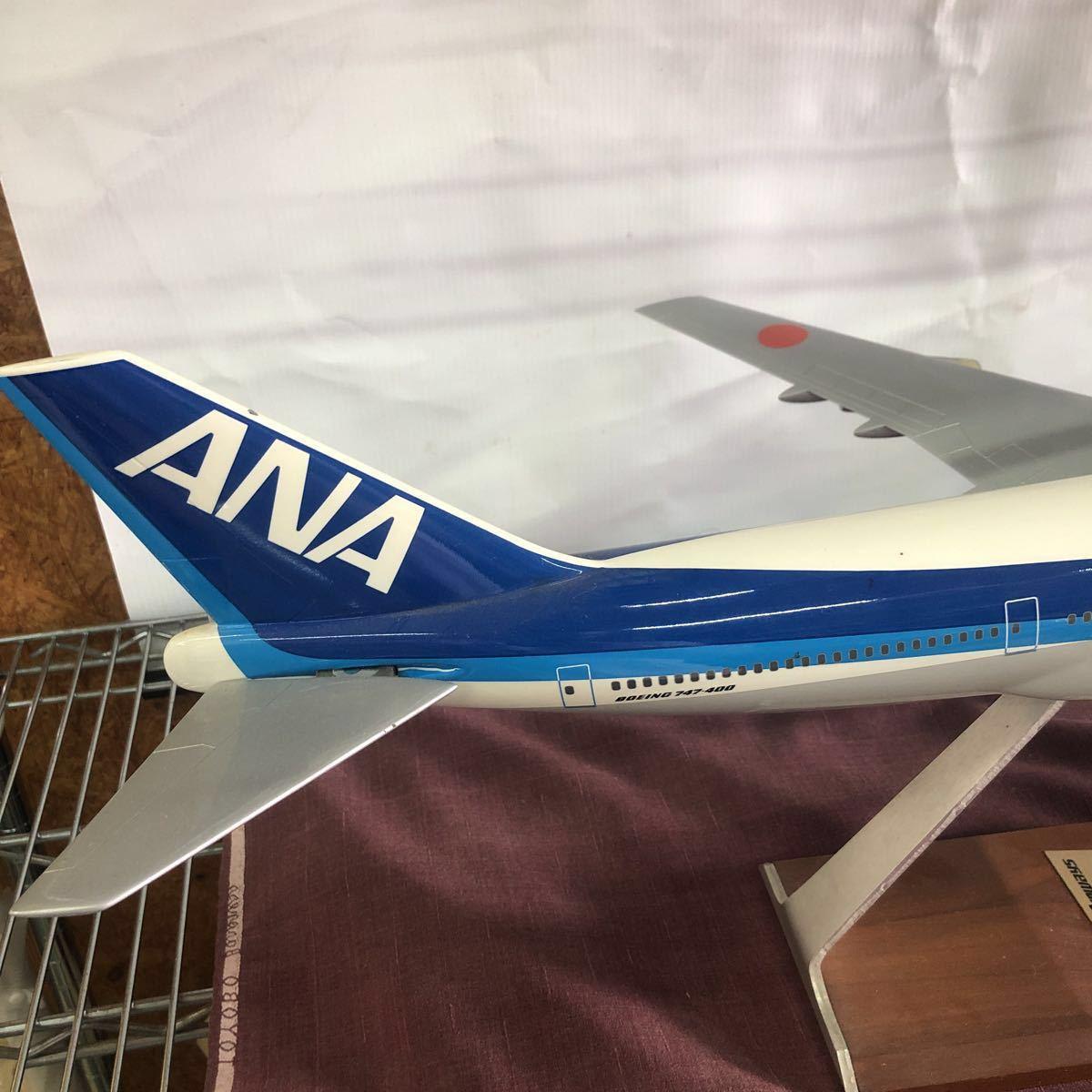 格安!売り切り!全日空 All Nippon Airways Lease Financing of Boeing 747-400 Aircraft 航空機 ボーイング 模型 置物 ANA_画像3
