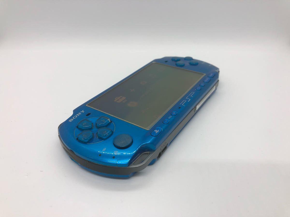 【動作良好】【完品♪】PSP 3000 バイブラント ブルー sony ソニー go vita 限定 レアカラー 人気 箱付き_画像4