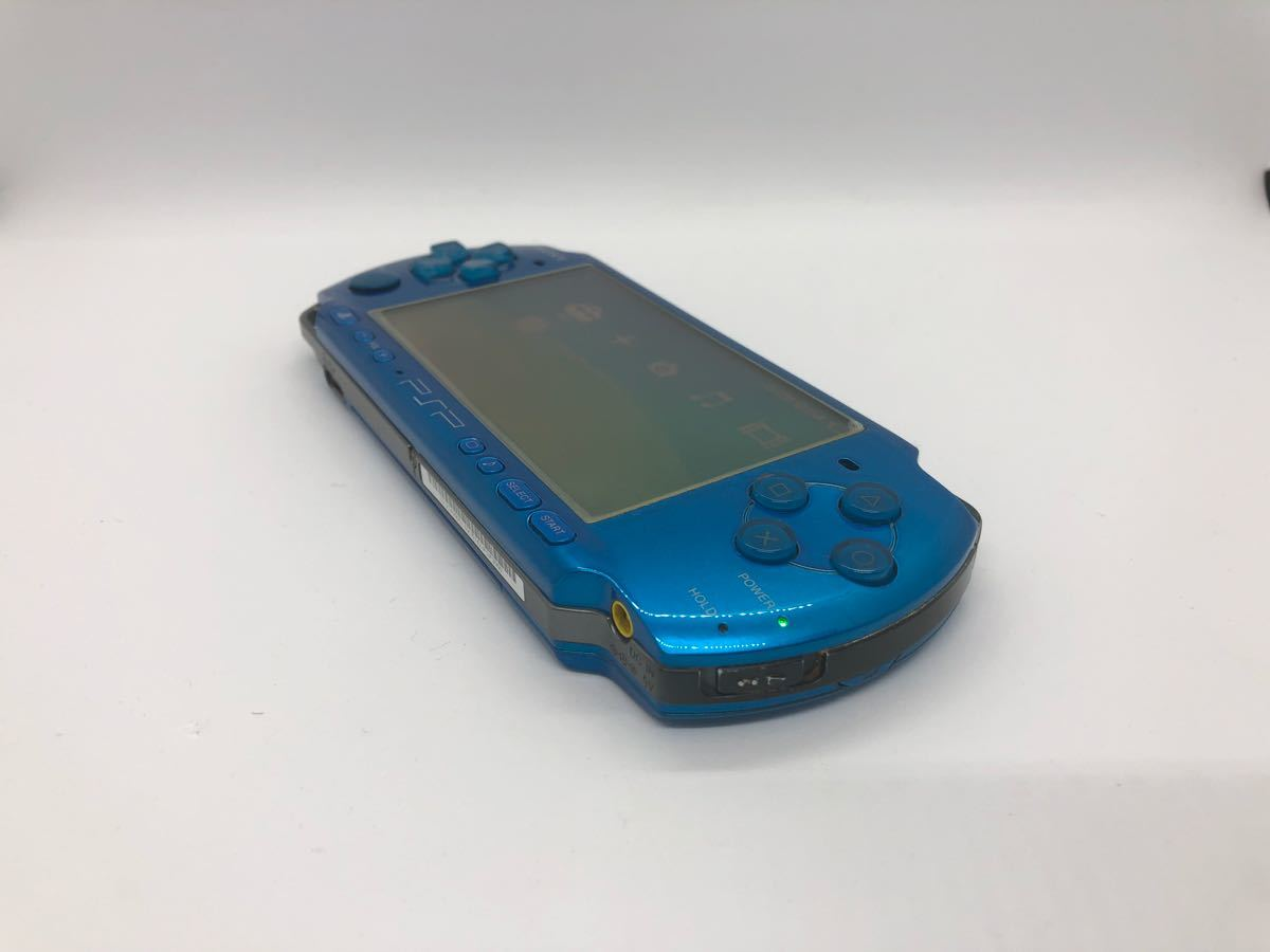 【動作良好】【完品♪】PSP 3000 バイブラント ブルー sony ソニー go vita 限定 レアカラー 人気 箱付き_画像5