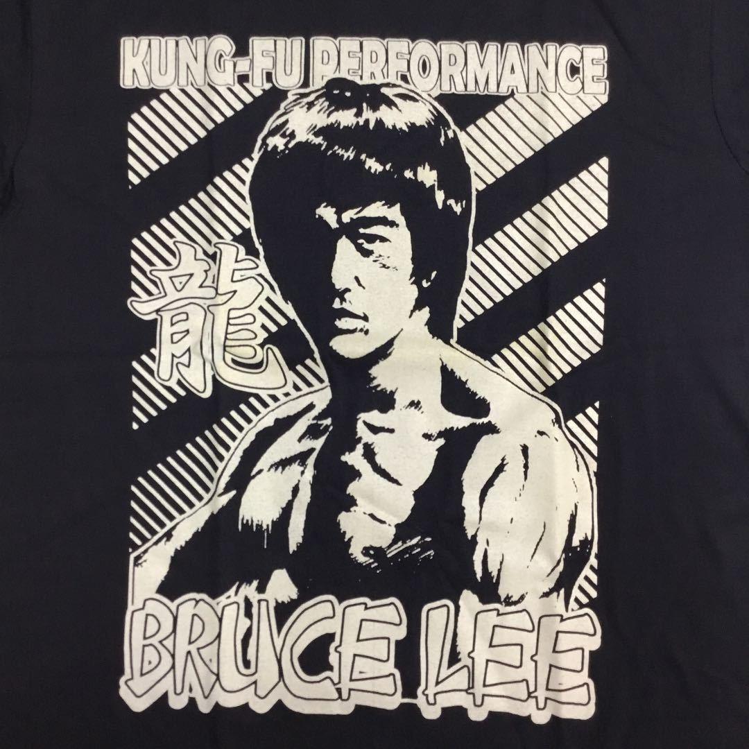 デザインプリント半袖Tシャツ Lサイズ ブルースリー ② BRUCE LEE *GSC2