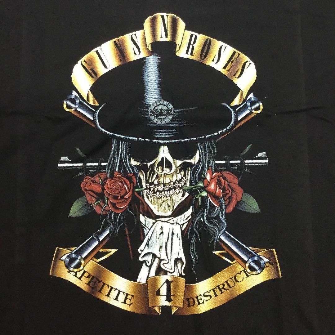 両面プリントビッグサイズ バンド半袖Tシャツ XXXL ガンズアンドローゼズ GUNS N' ROSES ② SR4D3 GNR