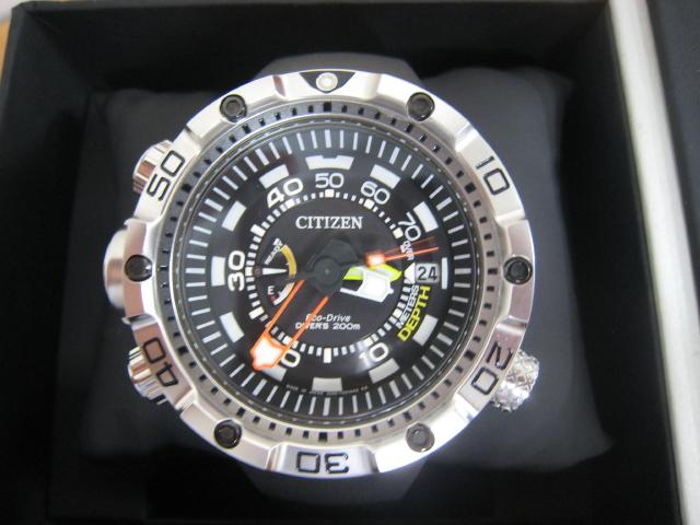 極美品 箱・保付 シチズン CITIZEN 腕時計 PROMASTER プロマスター エコ・ドライブ マリンシリーズ アクアランド200m ダイバー BN2021-03E