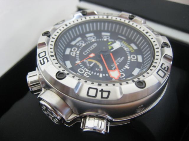極美品 箱・保付 シチズン CITIZEN 腕時計 PROMASTER プロマスター エコ・ドライブ マリンシリーズ アクアランド200m ダイバー BN2021-03E _画像5