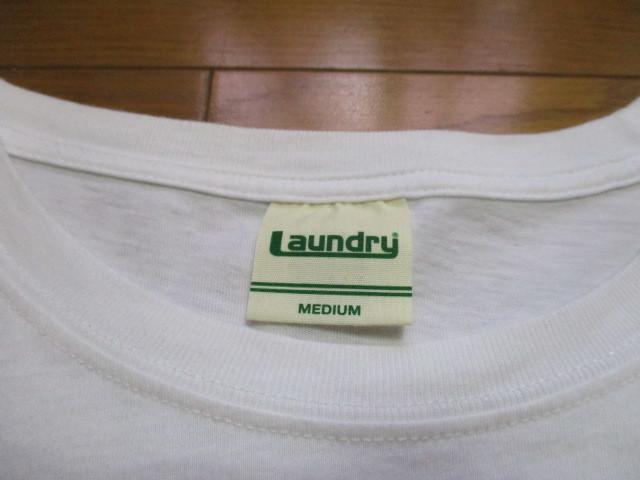 Laundry スタバ風 白 Tシャツ Mサイズ CAFE TIME ロゴ コーヒー ランドリー_画像3