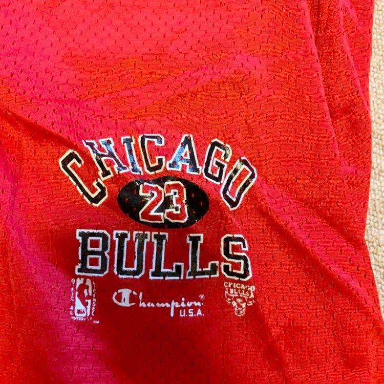 チャンピオン NBA BULLS ジョーダン 90s メッシュ ショートパンツ_画像2