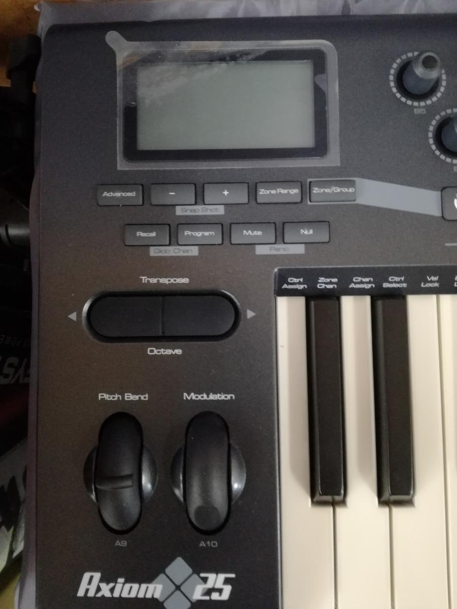 J998 美品中古 動作確認済み 送料無料 M-AUDIO 5鍵盤セミウェイテッドMIDIキーボード AXIOM25 楽曲制作 アレンジ 編曲 作曲_画像3